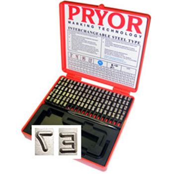 Pryor's popular Pryor Series Type Sets without Type Holder
