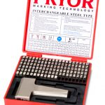 Pryor Marking Interchangeable Steel Type Set Series including Type Holder - Sharp Faced Type - 1/4